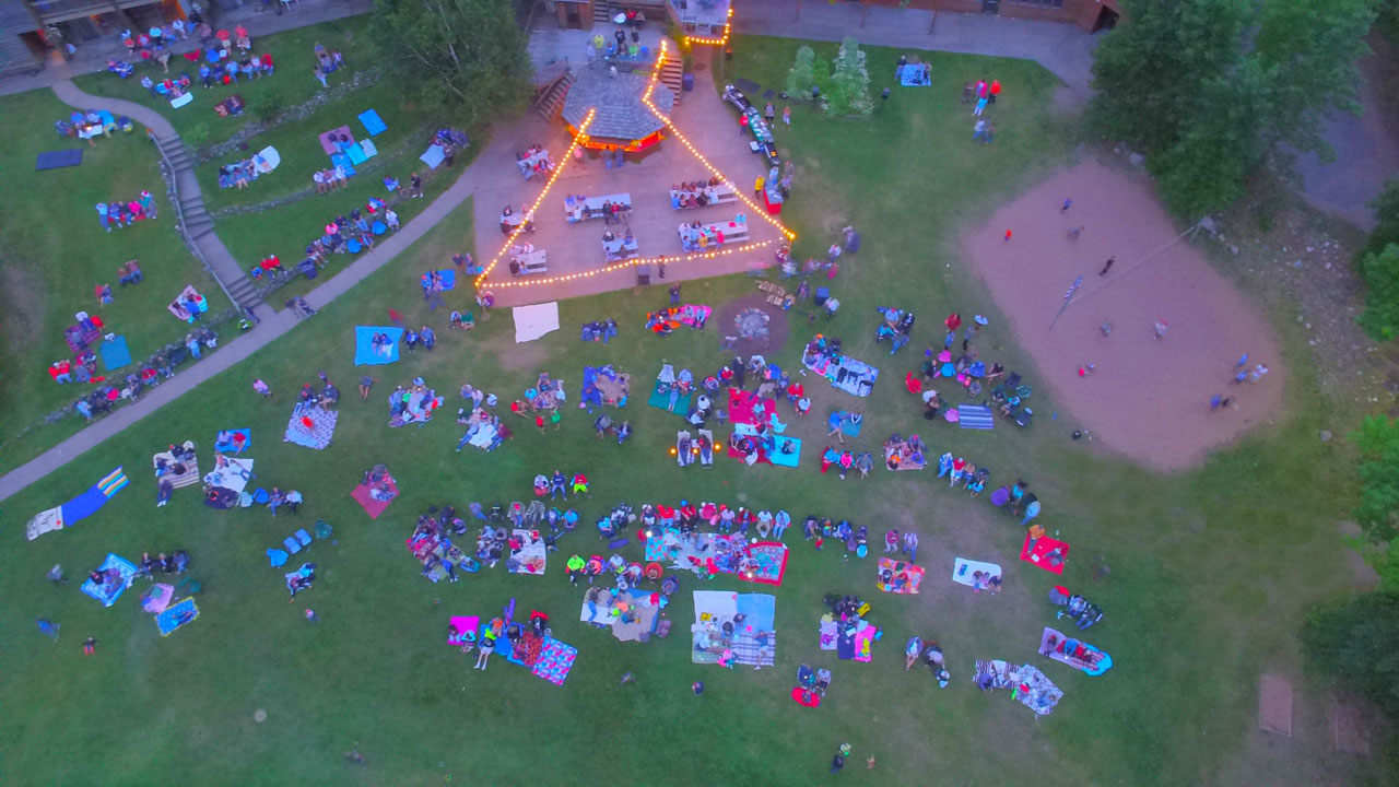 Aerial photo of lakewoods lawn